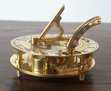 Antique Brass Sundial Compass Nautical Style Maritime West London Perfect Gift