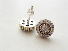 TURKISH OTTOMAN WHITE TOPAZ 925 STERLING SILVER HURREM SULTAN STUD EARRINGS