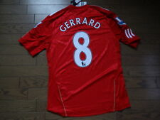Liverpool #8 Gerrard 100% Original Jersey Shirt 2010/11 Home M BNWT Rare