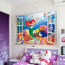 New The Little Mermaid DIY 3D Wall Stickers For Kids Children Rooms Home Decor