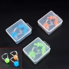 Silicone Waterproof Soft Swimming Nose Clip And Mushroom Ear Plug Set In Case BY