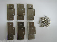 Mobile Home RV Parts Interior Door Hinges Package of 6 Non-mortise Satin Nickel