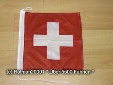 Fahnen Flagge Schweiz Bootsfahne Tischwimpel - 30 x 30 cm