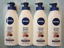 Lot(4) NIVEA COCOA BUTTER BODY LOTION WITH COCOA BUTTER & VIT E  - 16.9 fl oz