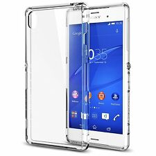 Coque Etui Housse Bumper en silicone gel Case Sony Xperia Z3 TRANSPARENT + Film