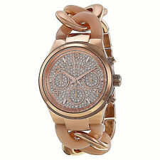 Michael Kors Women's Chronograph Runway Twist Blush Rose Gold-Tone MK4283