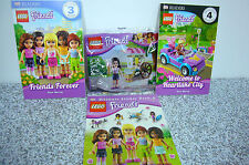 4 Lego Friends 30106 Poly Bag MINIFIG Ice Cream Books Stickers Readers All NEW