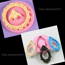 Oval and round frame silicone molds 2 pieces lot.