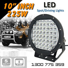 "LED Spot Lights 2x 225w Heavy Duty CREE 12/24v AAA+ ""BEST 9 Inch"""