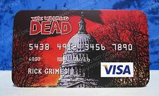 Walking Dead Visa Promo Card NYCC Rick Grimes TWD Exclusive Limited Edition VHTF