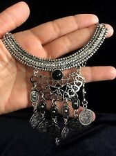 Necklace Silver Big Hippie Boho Coin Tribal Bohemian Belly Dance Ethnic Gypsy UK