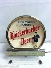 Knickerbocker beer sign vintage reverse glass register topper light rog old GC2