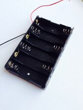 New Plastic 6 X 1.5V AA 2A CELL Battery Holder Storage Box standard 9V Case