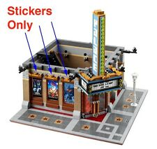 Custom stickers LEGO 10232 Cinema Theater Modular building sticker Batman Movie