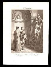 santino incisione acquatinta 1800 S.AGRIPPINO V. DI NAPOLI