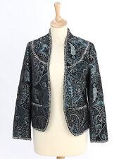 Warehouse haut femme blackpaisley tapisserie veste taille 10