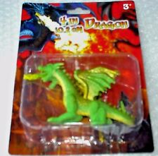 Dragon with flame Double Head, Age 3+ Pretend Play Green Molded Plastic