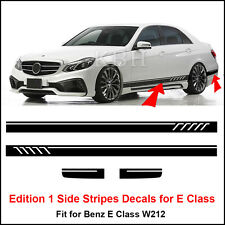 Edition 1 Style Side Stripes Sticker for Mercedes Benz W212 E Class AMG Black