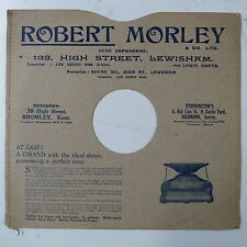 "78rpm 10"" card gramophone record sleeve / cover ROBERT MORLEY , LEWISHAM"