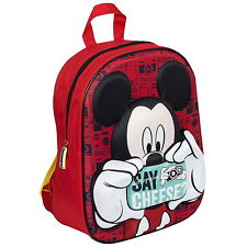 NEW OFFICIAL Mickey Mouse Disney Boys Girls Kids 3D Backpack Rucksack School Bag