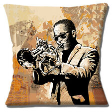 "NEW Vintage Retro Jazz  Musician Trumpet  Player Music 16"" Pillow Cushion Cover"