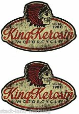King Kerosin 2x Motorcycle Aufkleber Sticker Oldschool Retro Hot Rod V8 Racing