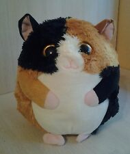 Ty The Beanie Ballz Collection black & brown tabby cat 10 inch Large Plush