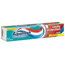Aquafresh Cavity Protection Fluoride Toothpaste, Cool Mint 3 oz (Pack of 9)