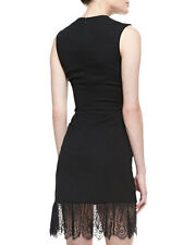 ALEXANDER MCQUEEN LITTLE BLACK DRESS WITH  LACE BOTTOM SIZE 10 RETAILED AT 4000