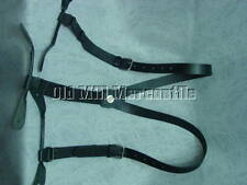 black leather 1inch wide  suspenders Old West Victorian mens suspenders braces
