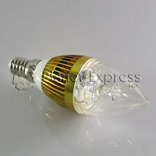 Lampada 3W LED E14 Candela Bianco Ghiaccio Colore Oro 220V 240 lumen equiv. 25W