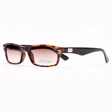 Rectangular Frame Sunglasses with Gold Logo Accent - Brown Marble
