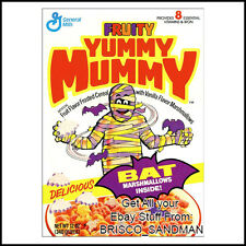 Fridge Fun Refrigerator Magnet YUMMY MUMMY MONSTER BREAKFAST CEREAL 80s Retro