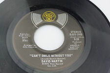 David Martin: I Can't Smile Without You / Magic Roundabout  [VG Copy]