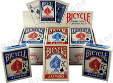 12 x BICYCLE RIDER BACK PLAYING CARDS POKER SIZE JUMBO INDEX MAGIC TRICKS