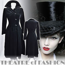 VINTAGE LAURA ASHLEY COAT 10 12 38 40 6 8 DRESS VELVET RIDING VICTORIAN 40s 50s