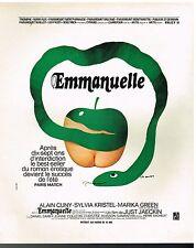 Publicité Advertising 1974 Le Film Emmanuelle par Léo Houper