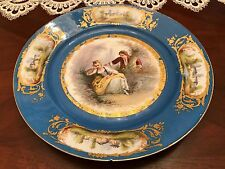 French Sevres Plate 1773 with crown avec couronne Assiette Teller mit Krone