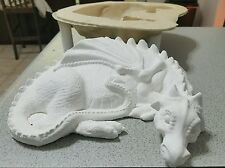 mold for plaster or concrete (latex and fiberglass) dragon ready to ship