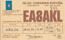 QSL Card Amatuer Radio ISLAS CANARIAS Spain 1983