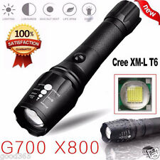 G700 X800 5000LM T6 LED Zoomable Flashlight Tactical Torch Zoom Lamp Super Light