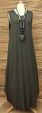 LAGENLOOK AMAZING BEAUTIFUL STRETCHY BALLOON MAXI DRESS*KHAKI*BUST 40-42-44""