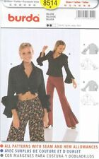 Pattern Burda Sewing Woman blouse 2 Styles Sz 10-20 French Spanish NEW OOP