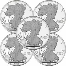 2016 Silver Eagle 5oz .999 Silver Medallion by SilverTowne LOT of 5