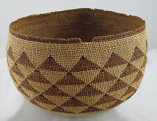 NATIVE AMERICAN KARUK INDIAN BASKET CIRCA 1920 - VERY FINE WEAVE