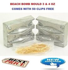 Storm Beach Bomb Fishing Lead Mould 3+4oz - WITH 50 CLIPS FREE