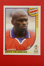 PANINI KOREA JAPAN 2002 # 226 COSTA RICA DRUMMOND WITH BLACK BACK MINT!!!