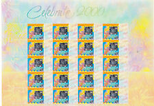 Australia sheet P Personalised CELEBRATE 2000 hologram standard tabs