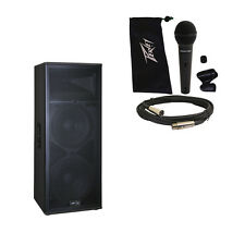 "Peavey SP 4 Pro Audio DJ Passive 4000W Dual 15"" 3-Way PA Speaker & PVi 100 Mic"
