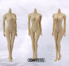 "JIAOU 1/6 Scale 12"" Caucasian Female Seamless Body Pale Large Bust Doll Figure"